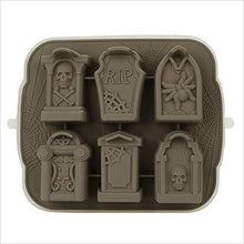 Load image into Gallery viewer, 3D Skull Tombstone Ice Cube Mold - Gifteee. Find cool & unique gifts for men, women and kids