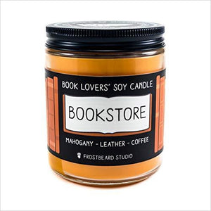 Bookstore - Book Lovers' Soy Candle-Guild Product - www.Gifteee.com - Cool Gifts \ Unique Gifts - The Best Gifts for Men, Women and Kids of All Ages