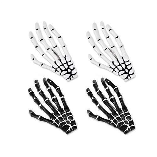 Gothic Skeleton Hands Hair Clips - Gifteee. Find cool & unique gifts for men, women and kids