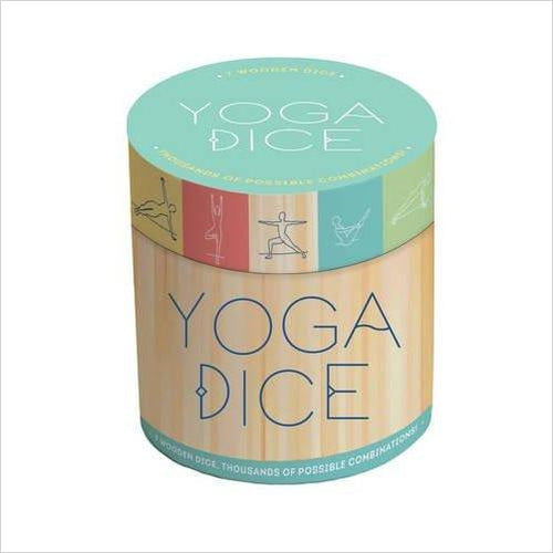 Yoga Dice: 7 Wooden Dice, Thousands of Possible Combinations! - Find the perfect gift for a sport fan, gifts for health fitness fans at Gifteee Cool gifts, Unique Gifts for wellness, sport and fitness