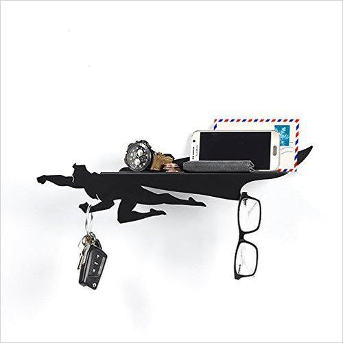 Superhero Key & Mail Holder Metal Floating Shelf-Home - www.Gifteee.com - Cool Gifts \ Unique Gifts - The Best Gifts for Men, Women and Kids of All Ages