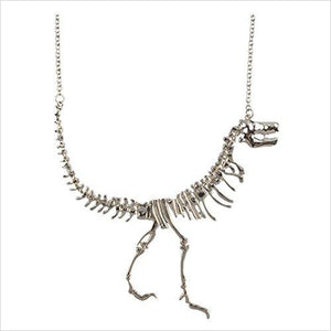 Silver Dinosaur Necklace-Jewelry - www.Gifteee.com - Cool Gifts \ Unique Gifts - The Best Gifts for Men, Women and Kids of All Ages