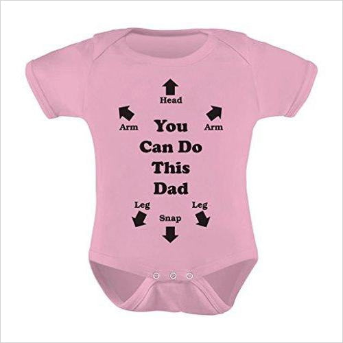 Baby Suit - You Can Do This Dad-baby suit - www.Gifteee.com - Cool Gifts \ Unique Gifts - The Best Gifts for Men, Women and Kids of All Ages