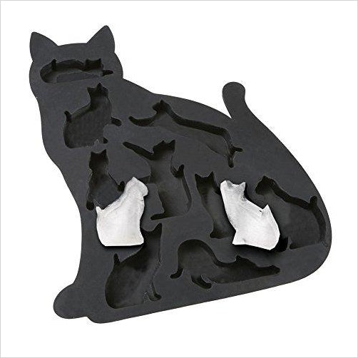Cat Lover's Kitty Shaped Silicone Ice Cube Tray Mold-Kitchen - www.Gifteee.com - Cool Gifts \ Unique Gifts - The Best Gifts for Men, Women and Kids of All Ages
