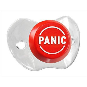 Baby Panic Button Pacifier-Baby Product - www.Gifteee.com - Cool Gifts \ Unique Gifts - The Best Gifts for Men, Women and Kids of All Ages