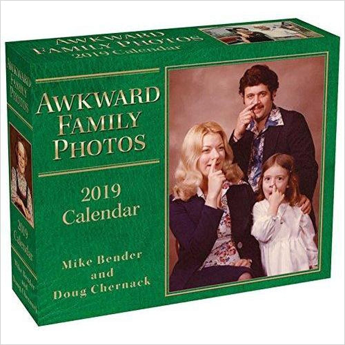 Awkward Family Photos 2019 Day-to-Day Calendar-Book - www.Gifteee.com - Cool Gifts \ Unique Gifts - The Best Gifts for Men, Women and Kids of All Ages