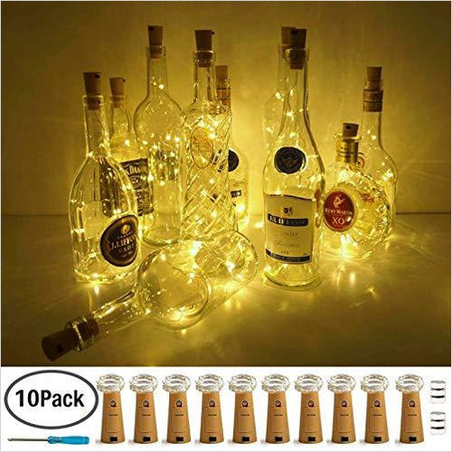 Wine-Bottle Lights-Home Improvement - www.Gifteee.com - Cool Gifts \ Unique Gifts - The Best Gifts for Men, Women and Kids of All Ages