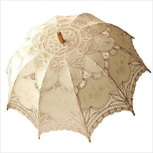 Lace Wedding Umbrella-Lawn & Patio - www.Gifteee.com - Cool Gifts \ Unique Gifts - The Best Gifts for Men, Women and Kids of All Ages