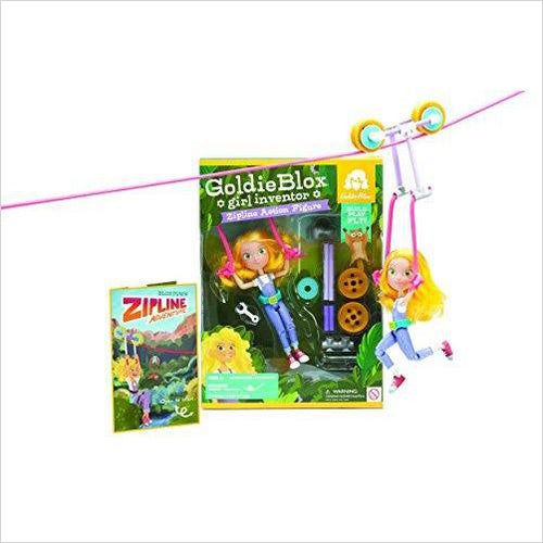 Girl Inventor Zipline Action Figure-Toy - www.Gifteee.com - Cool Gifts \ Unique Gifts - The Best Gifts for Men, Women and Kids of All Ages