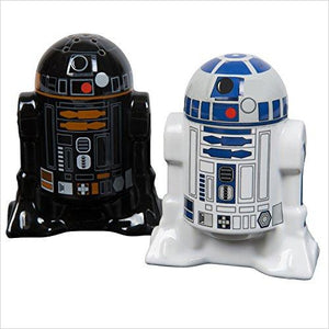Star Wars Salt and Pepper Shakers - R2D2 and R2Q5 - Find unique gifts that will get you kids eating well and eating healthy with unique foodie gifts for kids dinner and the kitchen at Gifteee Cool gifts, Unique Gifts that will make kids enjoy eating