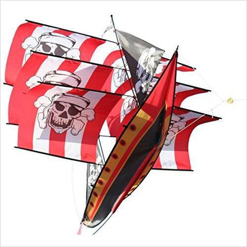 Supersize Pirate Ship Kite-Toy - www.Gifteee.com - Cool Gifts \ Unique Gifts - The Best Gifts for Men, Women and Kids of All Ages