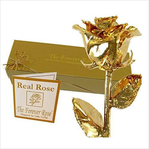 24K Gold Dipped Real Rose w/ Gold Gift Box - Gifteee. Find cool & unique gifts for men, women and kids