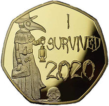 Load image into Gallery viewer, I Survived 2020 Memorabilia Gold & Silver Coins