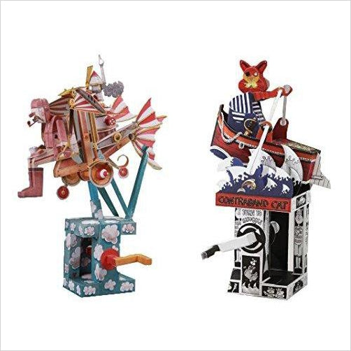 Automata Paper Machine Model Combo Kit – Flying Dreamer + Contraband Cat-Toy - www.Gifteee.com - Cool Gifts \ Unique Gifts - The Best Gifts for Men, Women and Kids of All Ages