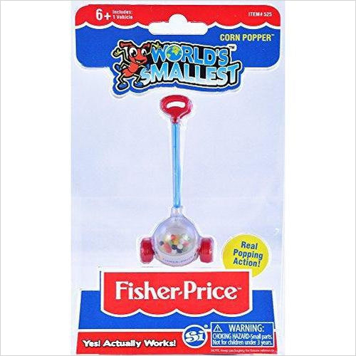 Worlds Smallest Fisher Price Corn Popper - Gifteee. Find cool & unique gifts for men, women and kids