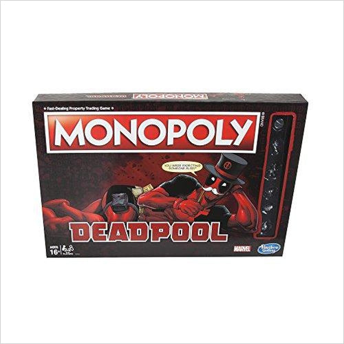 Monopoly Game: Marvel Deadpool Edition-Toy - www.Gifteee.com - Cool Gifts \ Unique Gifts - The Best Gifts for Men, Women and Kids of All Ages