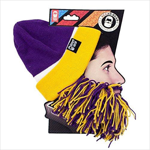 Beard Head Tailgate Beard Beanie - Team Colors - Find unique gifts for teen boys and young men age 12-18 year old, gifts for your son, gifts for a teenager birthday or Christmas at Gifteee Unique Gifts, Cool gifts for teenage boys
