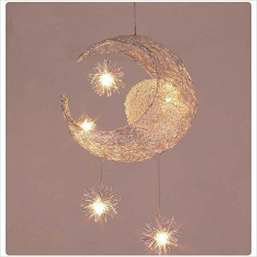 Creative Moon And Stars Chandelier - Find unique gifts for a newborn baby and cool gifts for toddlers ages 0-4 year old, gifts for your kids birthday or Christmas, special baby shower gifts and age reveal gifts at Gifteee Unique Gifts, Cool gifts for babies and toddlers