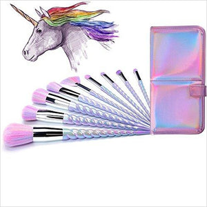 Ammiy Unicorn Makeup Brushes Set - Find Unicorn gifts for girls and unicorn gifts for women, magical unicorn gifts ideas - jewelry, clothing, accessories and games at Gifteee Unique Gifts, Cool gifts for unicorn lovers