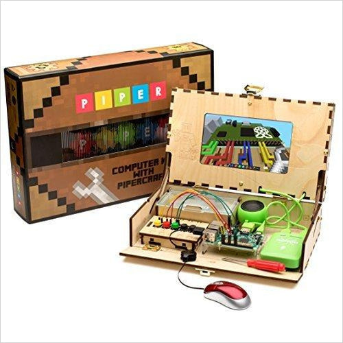 Piper Computer Kit | with Minecraft Raspberry Pi edition | Educational Computer - Find unique STEM gifts find science kits, educational games, environmental gifts and toys for boys and girls at Gifteee Cool gifts, Unique Gifts for science lovers