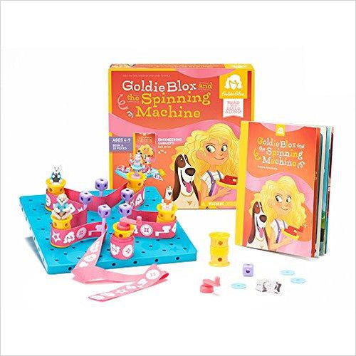 GoldieBlox and The Spinning Machine - Find special gifts for girls and tweens age 5-11 year old, gifts for your daughter, gifts for your kids birthday or Christmas, gifts for a young princess, gifts for you children classmates and friends at Gifteee Unique Gifts, Cool gifts for girls