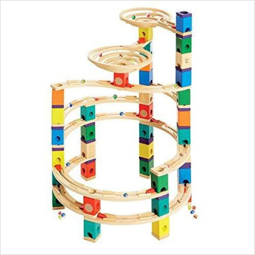 Wooden Marble Run Construction - Cyclone - Find unique gifts for a newborn baby and cool gifts for toddlers ages 0-4 year old, gifts for your kids birthday or Christmas, special baby shower gifts and age reveal gifts at Gifteee Unique Gifts, Cool gifts for babies and toddlers