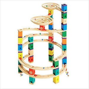 Wooden Marble Run Construction - Cyclone-Toy - www.Gifteee.com - Cool Gifts \ Unique Gifts - The Best Gifts for Men, Women and Kids of All Ages