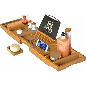 Luxury Bathtub Caddy Tray - Gifteee. Find cool & unique gifts for men, women and kids