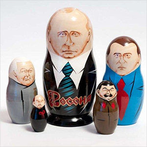 Russian Presidents Matryoshka-Toy - www.Gifteee.com - Cool Gifts \ Unique Gifts - The Best Gifts for Men, Women and Kids of All Ages