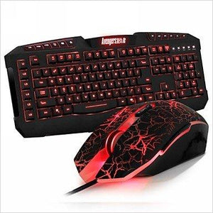 Gaming Mice and Avenger 7 Buttons Gaming Keyboard USB Wired Combo Set - Find unique gifts for superhero fans, the avengers, DC, marvel fans all super villians and super heroes gift ideas, games collectibles and gadgets at Gifteee Cool gifts, Unique Gifts for comic book fans