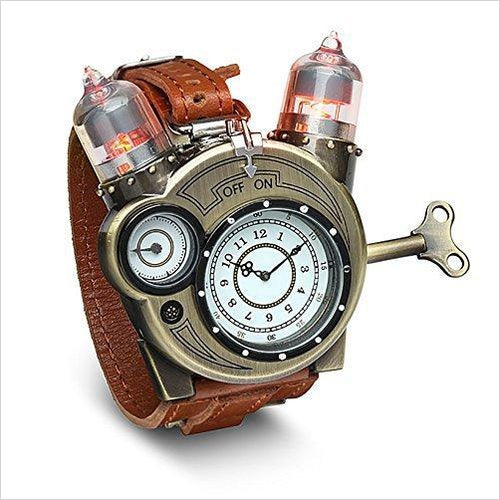 Steampunk Styled Tesla Analog Watch - Gifteee. Find cool & unique gifts for men, women and kids