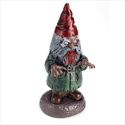 Zombie Garden Gnome - Find scary gifts for Halloween, disgusting gifts for horror, weird gifts for oddity lovers and some firefighting special effects lovers at Gifteee Cool gifts, Unique Gifts for Halloween