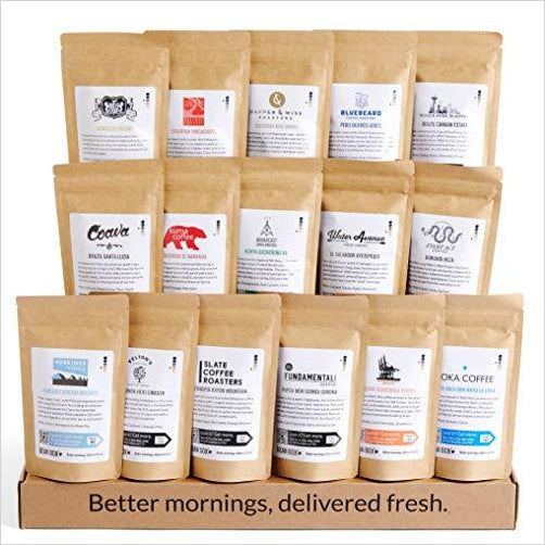 World Coffee Tour Gourmet Sampler - Gifteee. Find cool & unique gifts for men, women and kids