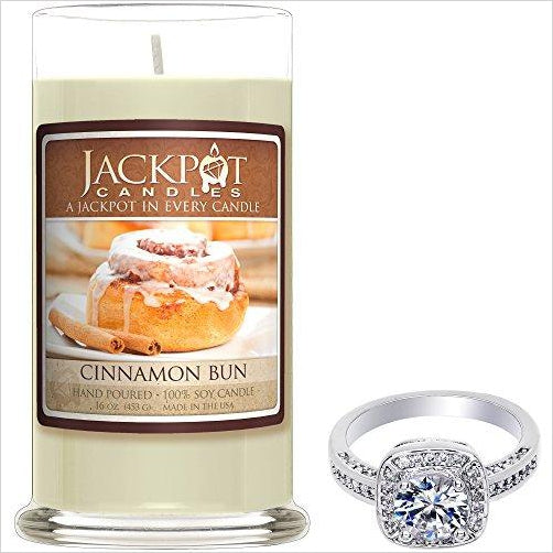 Scented Candle with Hidden Ring Inside (Surprise Jewelry Valued at $15 to $5,000) - Find beautiful jewelry and accessories for women, teen girls and girls in all ages from 24k gold jewelry to children jewelry. necklaces, earrings, rings, engagement rings, unique jewelry for valentine's day at Gifteee Special gifts, Beautiful gifts for women