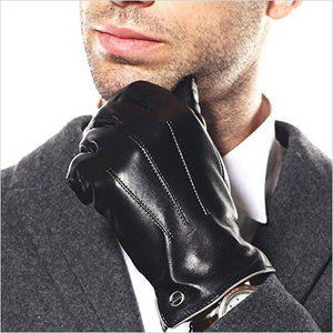 Men's Touchscreen Texting Italian Leather Gloves-Apparel - www.Gifteee.com - Cool Gifts \ Unique Gifts - The Best Gifts for Men, Women and Kids of All Ages