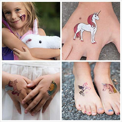 Unicorn Temporary Tattoos - Find unique arts and crafts gifts for creative people who love a new hobby or expand a current hobby, art accessories, craft kits and models at Gifteee Cool gifts, Unique Gifts for arts and crafts lovers