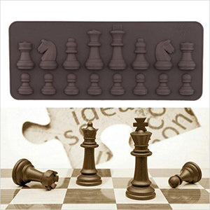 Chess Silicone Cake Mold - Find unique gifts that will get you kids eating well and eating healthy with unique foodie gifts for kids dinner and the kitchen at Gifteee Cool gifts, Unique Gifts that will make kids enjoy eating
