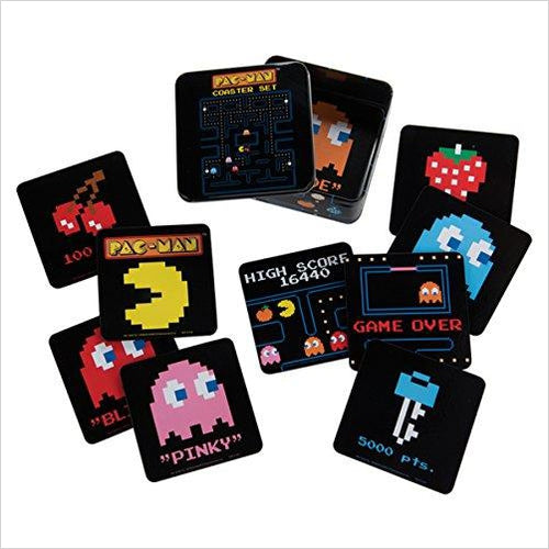 PAC-MAN 10 Piece Coaster Set-Kitchen - www.Gifteee.com - Cool Gifts \ Unique Gifts - The Best Gifts for Men, Women and Kids of All Ages