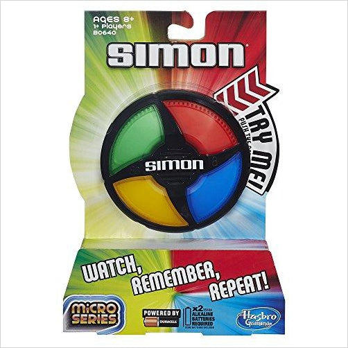 Hasbro Simon Micro Series Game-Toy - www.Gifteee.com - Cool Gifts \ Unique Gifts - The Best Gifts for Men, Women and Kids of All Ages