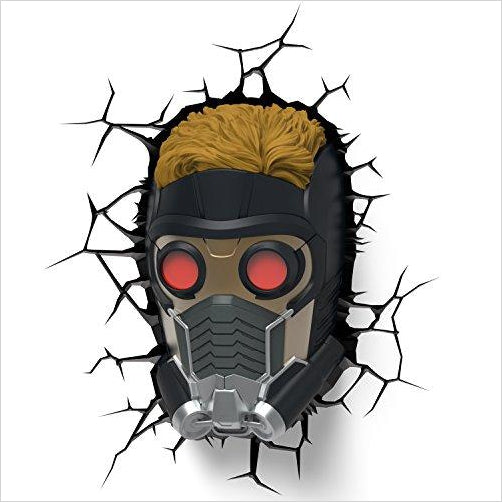 Marvel Guardians of The Galaxy Star Lord 3D Deco Light - Find unique gifts for superhero fans, the avengers, DC, marvel fans all super villians and super heroes gift ideas, games collectibles and gadgets at Gifteee Cool gifts, Unique Gifts for comic book fans