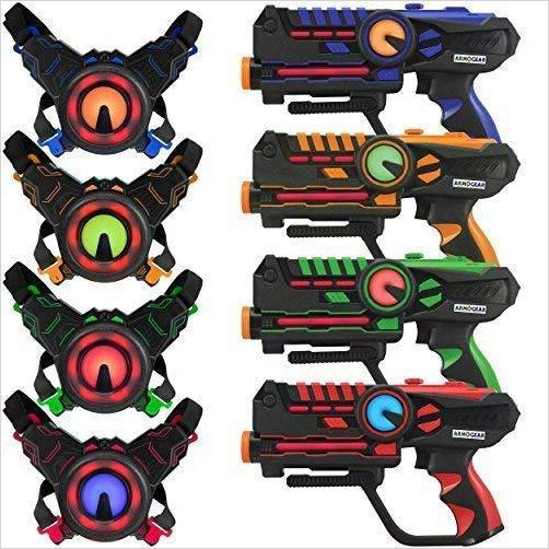 Infrared Laser Tag Guns and Vests - Find unique gifts for a newborn baby and cool gifts for toddlers ages 0-4 year old, gifts for your kids birthday or Christmas, special baby shower gifts and age reveal gifts at Gifteee Unique Gifts, Cool gifts for babies and toddlers