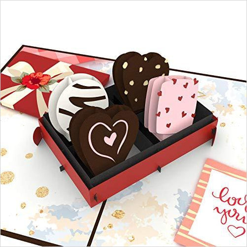 Love Chocolate Pop Up Card - Find unique love and romance gifts, special gifts for Valentine's day, beautiful gifts for your girl friend to spread love into the air at Gifteee Cool gifts, Unique Gifts for Valentine's day