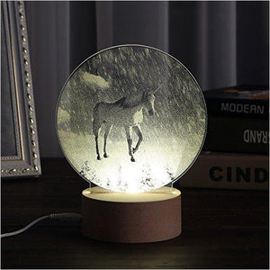 The Unicorn in Snow Landscape Night Light - Find Unicorn gifts for girls and unicorn gifts for women, magical unicorn gifts ideas - jewelry, clothing, accessories and games at Gifteee Unique Gifts, Cool gifts for unicorn lovers