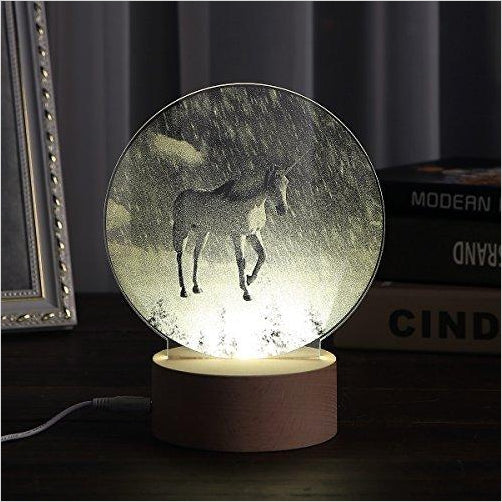 The Unicorn in Snow Landscape Night Light-Home - www.Gifteee.com - Cool Gifts \ Unique Gifts - The Best Gifts for Men, Women and Kids of All Ages