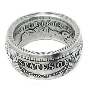 The King of Coin Rings Handmade From a1921 US Morgan Silver Coin-Jewelry - www.Gifteee.com - Cool Gifts \ Unique Gifts - The Best Gifts for Men, Women and Kids of All Ages