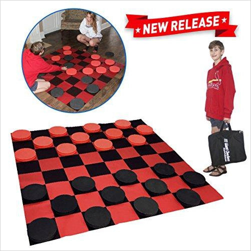 Giant Checkers Game-Toy - www.Gifteee.com - Cool Gifts \ Unique Gifts - The Best Gifts for Men, Women and Kids of All Ages