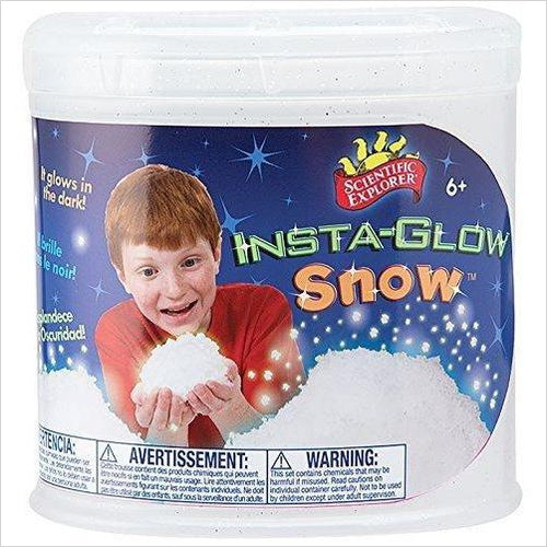 Insta-Glow in the Dark Snow-Toy - www.Gifteee.com - Cool Gifts \ Unique Gifts - The Best Gifts for Men, Women and Kids of All Ages