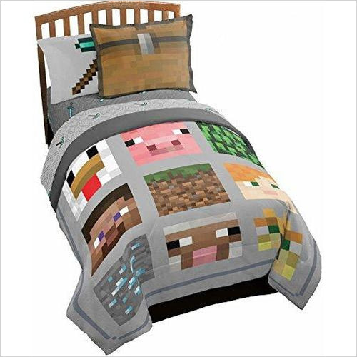 Minecraft Twin Quilt Blanket-Home - www.Gifteee.com - Cool Gifts \ Unique Gifts - The Best Gifts for Men, Women and Kids of All Ages