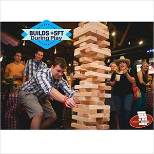 "Giant ""Jenga"" Game Blocks-Toy - www.Gifteee.com - Cool Gifts \ Unique Gifts - The Best Gifts for Men, Women and Kids of All Ages"