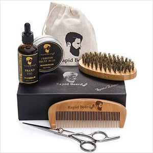 Beard Grooming & Trimming Kit - Find unique love and romance gifts, special gifts for Valentine's day, beautiful gifts for your girl friend to spread love into the air at Gifteee Cool gifts, Unique Gifts for Valentine's day